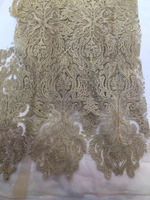 African Lace Fabrics For Garment French stones Net Lace Wedding Dress Fabric embroidery french lace FRH38-1