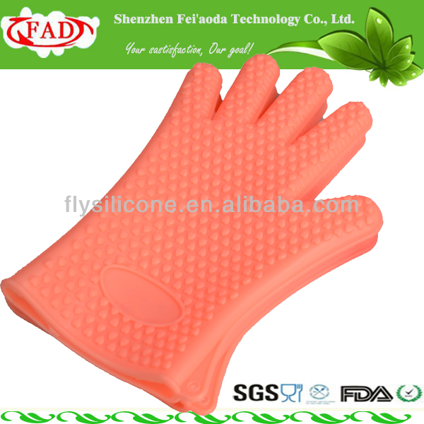 Food Grade Insulated Silicone Kitchen Use Freezer Gloves With Fingers