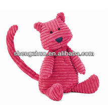 Plush soft tabby Medium Pink Cat with long tail