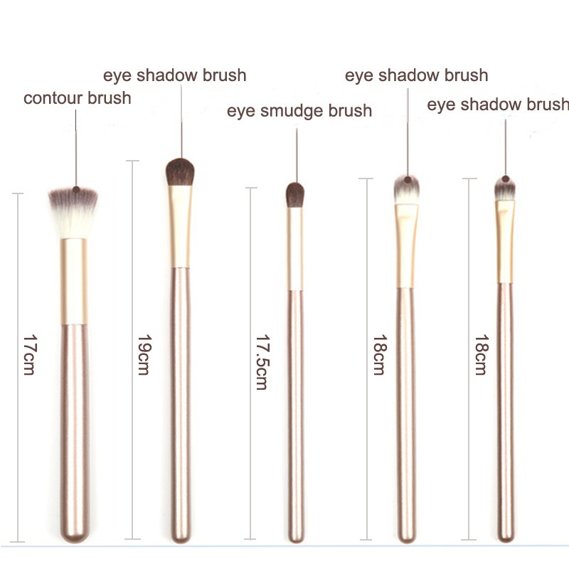 24pcs professional makeup tool kit cream color makeup brush set