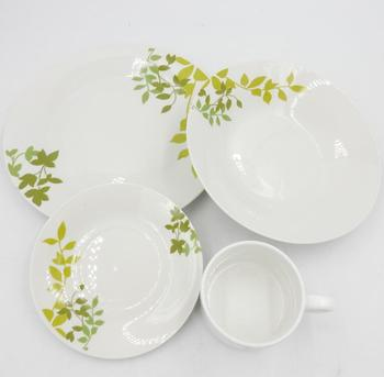 High quality products dinner set circle plate with logo flower design