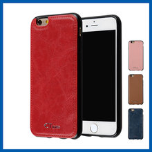 C&T Luxury Leather Back Cover Case Rubberized PC Inner Protective Case for Apple iphone 6
