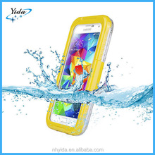 high qulity plastic silicone S4 water proof case for Samsung Galaxy S4