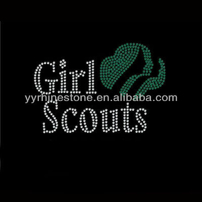 Girls Scouts Wholesale Rhinestone Transfers Design
