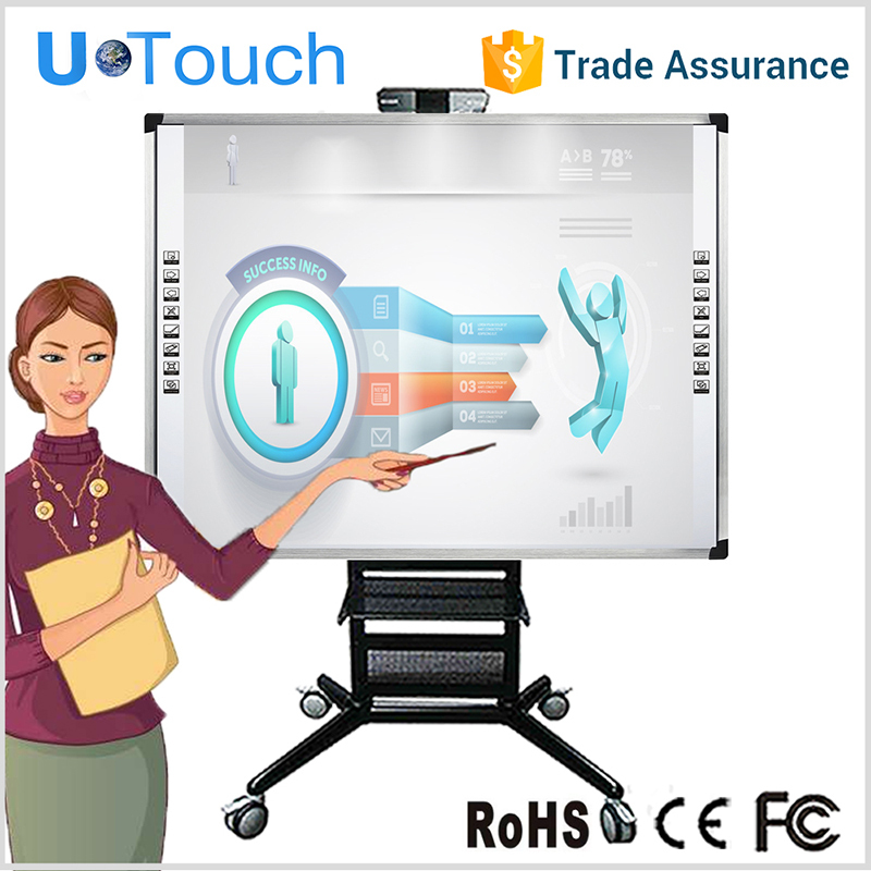 USB linking 92 inch interactive touch smart whiteboard with stand for kids e-leaning
