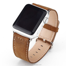 2018 Amazon hot sale Genuine Leather with cow boy design strap for All Apple Watch band 42mm 38mm