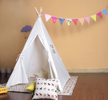 White camping family children teepee tent