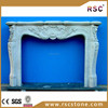 Artificial marble fireplace mantel surround