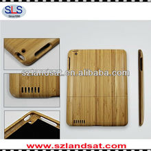 Hot factory direct sales 100% real natural bamboo cases for ipad 3 IBC09