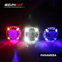 CHINA FACTORY SUPPLY UNIVERSAL TURNING LIGHT LED LIGHT GUIDE ANGEL EYES PROJECTOR LENS KITS FOR AUTOMOBILE MOTORCYCLE