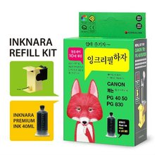 INKNARA Refill Kit [NEW 2012] Compatible for CANON PG 40 50 830 BLACK INK