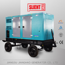 low fuel consumption 80kw 100kva silent type trailer mounted generator