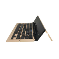 Selling as hotcakes metal with ABS key four folding bluetooth 3.0 foldable keyboard for samsung tablet 10.1 android