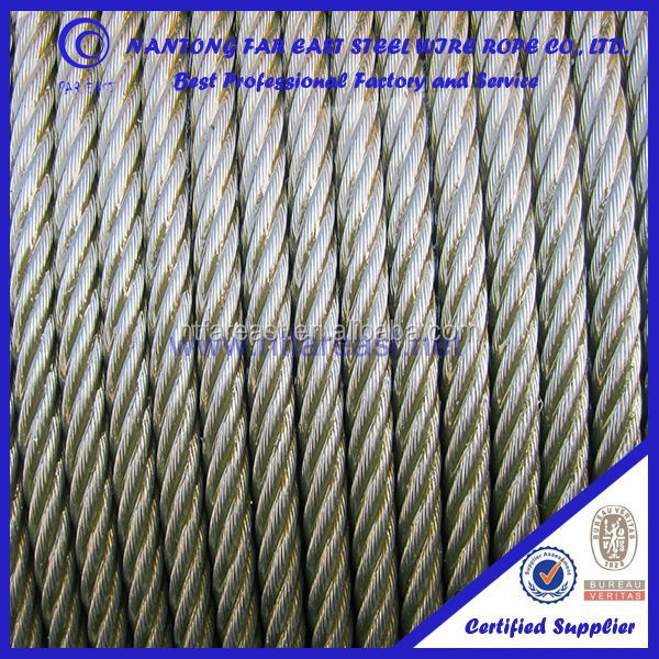 elevator lift ropes 8*19s,good steel wire rope price