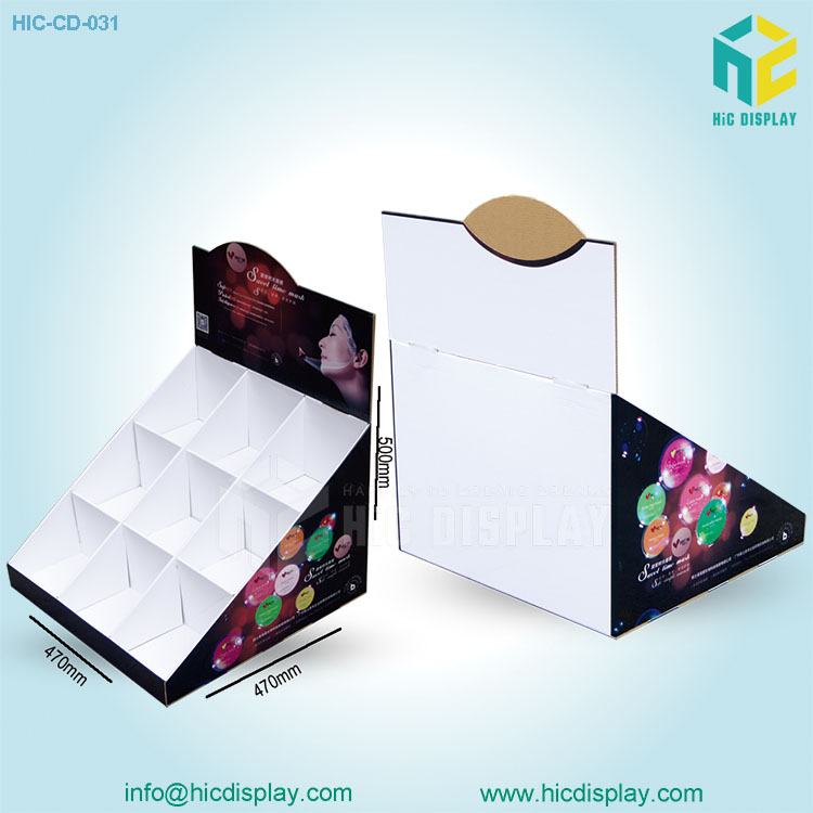 cosmetic counter display,paper counter display box for cosmetic