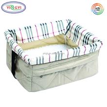 B786 Quilted Pet Booster Seat Dog Cat Vehicle Travel Carrier Lightweight Portable Animals Safety Security Pet Car Bed