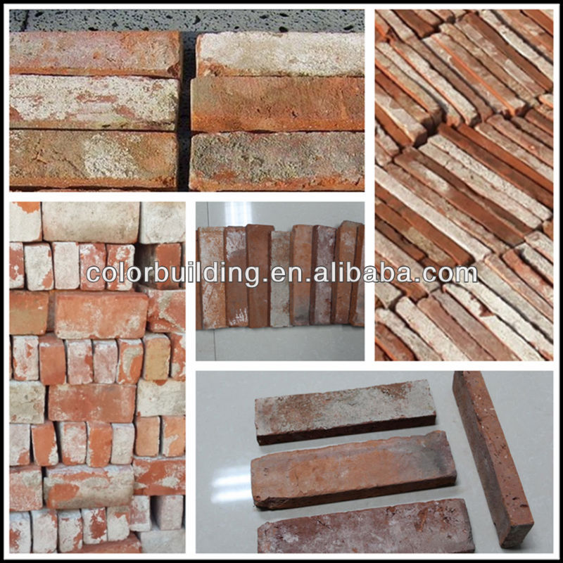 Feature wall red clay old brick used tile prices