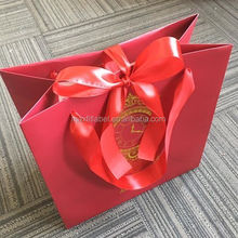 china cheap factory custom high end christmas brown paper gift bags