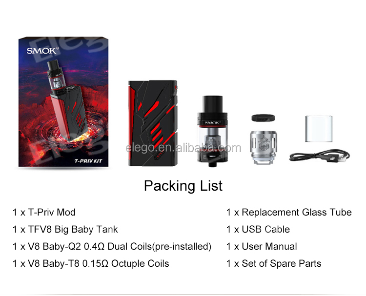 2017 Newest Coming SMOK T-PRIV 220W Kit Standard Edition 5ml Smok T-Priv Kit