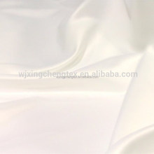 100% Polyester Woven White Silk Satin Fabric For Fashion Apparel