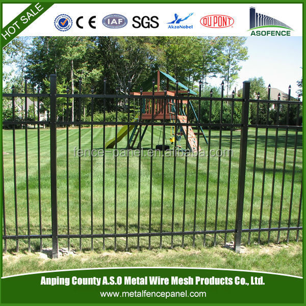 Powder Coated decorative pvc coated ornamental wrought <strong>iron</strong> fence