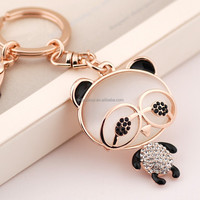 V060760L Luxurious Crystal opal Bear key chain Zinc Alloy 18K Rose Gold Plated With Austria crystal Fashion Jewelry Wholesale