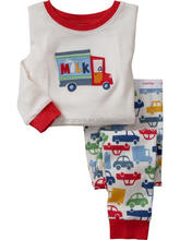 wholesale baby boys and girls long sleeve 2pc cotton pajmas kids pijamas child sleepwear