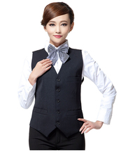 Solid Formal Vest Women's Waistcoats