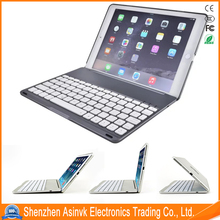 Back light Aluminum alloy keyboard hot selling model in B2C market Bluetooth keyboard Cover Case for iPad Pro 9.7""