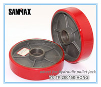 200*50 Reliable iron core PU tread wheel for pallet jack, hydraulic jack wheel