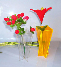 Desktop colored high craft acrylic home vase online retail store