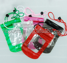 waterproof bag for phone/pvc waterproof case