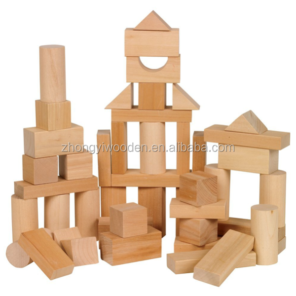 Small castle world toys for kids custom cheap wooden building blocks