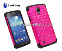 High Quality Dazzling Diamond Case for Samsung Galaxy S4 Active I9295,Rugged Case for Samsung Galaxy S4 Active Combo Case