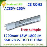 Super deal for 3 years warranty CE ROHS 18w t8 led red tube xxx made in china