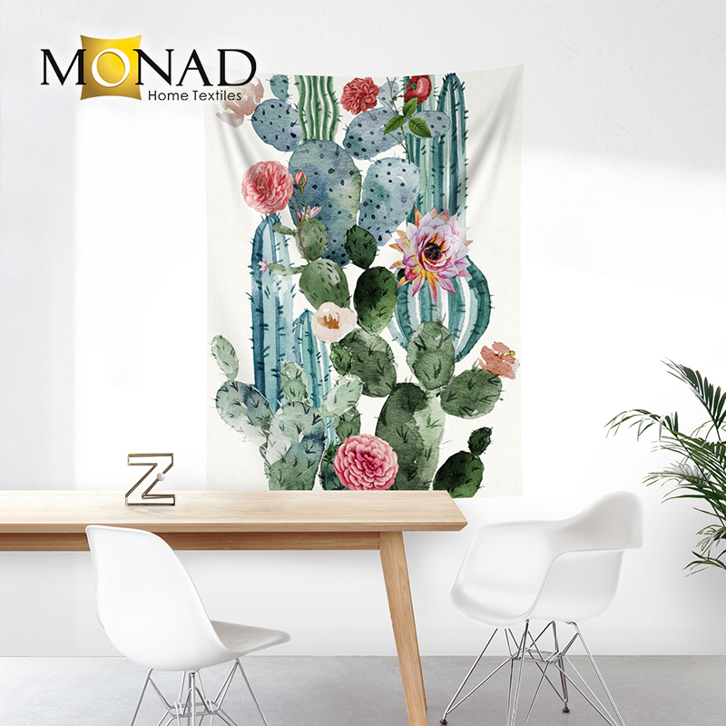 Monad decor succulent plants cactus custom picture tapestry mats
