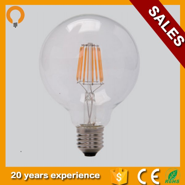 Led G125 Dimmable filament light bulb