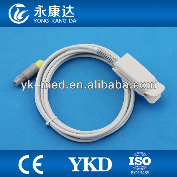 medical spare parts ,5pin oxygen sensor ,adult finger clip style,compatible with goldway monitor