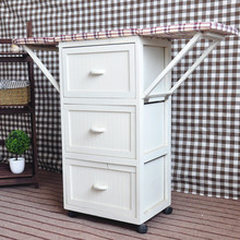 Multi Drawers Wooden Ironing Board with Cabinet Ironing Board Storage Cabinet