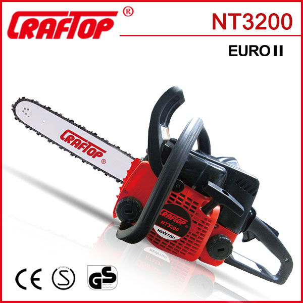 14'' 1.3kw CE certified 32cc tree branch cutter NT3200
