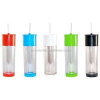 16oz Double Wall Plastic Hydration Bottle ,Insulated Plastic 22 oz Drink Cup with Lid Straw Sports Travel Breeze Tumbler