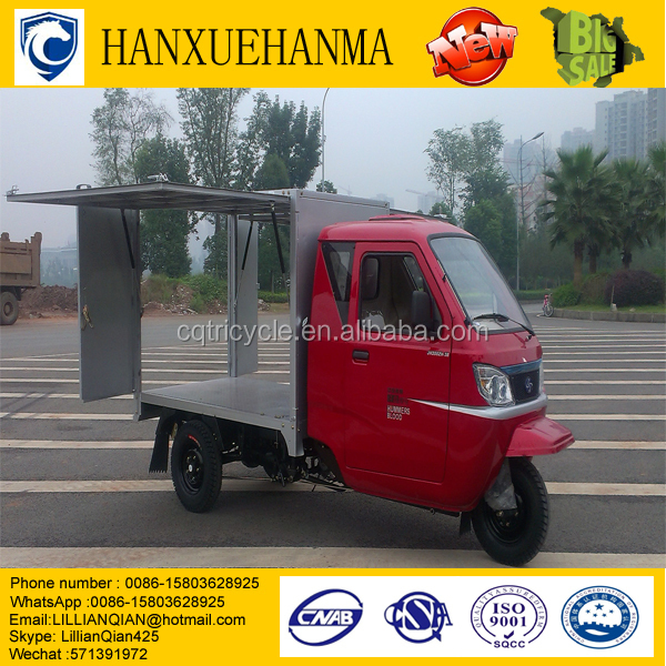 new hot sell food,snacks,water,fruits,coffee,ice cream model 250cc motor truk there wheel tricycle food cart