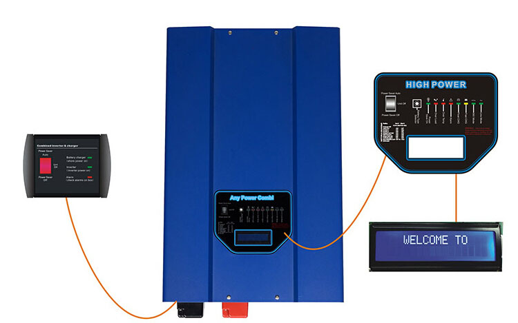 PEV series 1-12KW Pure Sine Wave Inverter 8000w LCD display with mppt controller charger