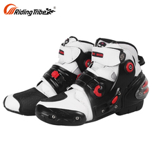 Waterproof Cool Mens Leather Motocross Motorcycle Bike Riding Racing Shoes Boot