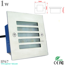 Step decorative stainless steel 1w IP67 waterproof Led wall lamp