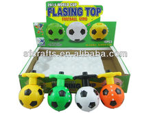 Hot sale flash laser top toys,spinning tops toys,football top toy with musical