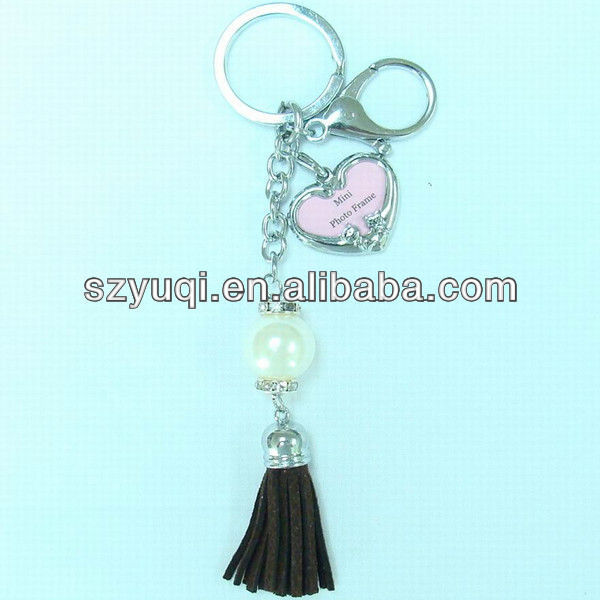 promotional metal keychain with photo frame