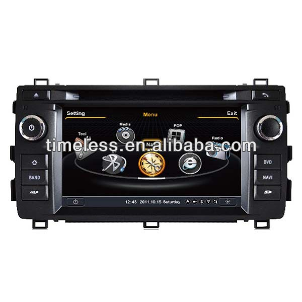 Car DVD Player for Toyota Auris 2013 with Phonebook iPod RDS BT 3G WIFI 20VCDC 4G Memory S100 System