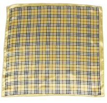 ZP Europe and America plaid pattern silk square neck scarf fashion