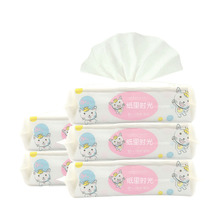 2018 Hot Sale Natural OEM Disposable Face Plastic Lid Baby Wet Wipes